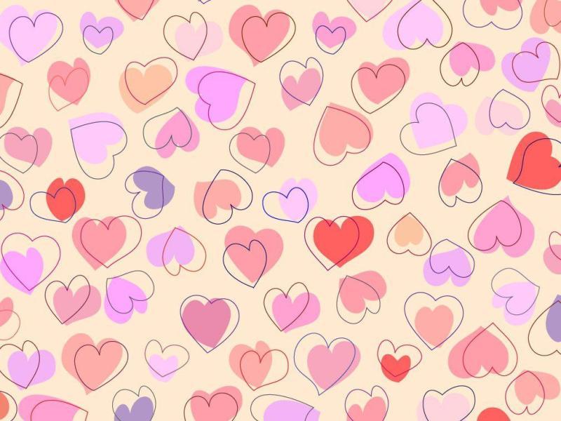 Cute Hearts Clip Art Backgrounds