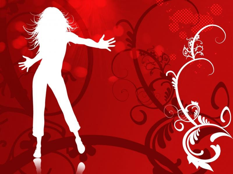 Dancing Girl Vector Free Quality Backgrounds