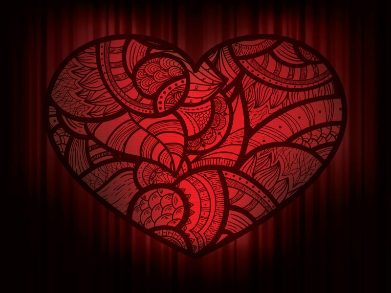 Dark Hearts Love Graphic Backgrounds