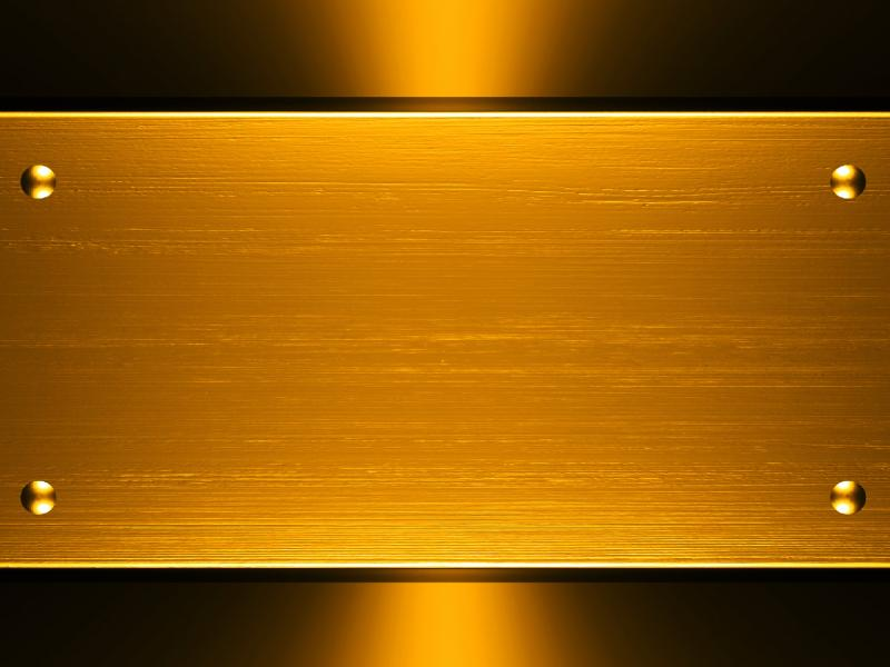 Design Is Gold Lors In The Free Metallic Design PPT Backgrounds