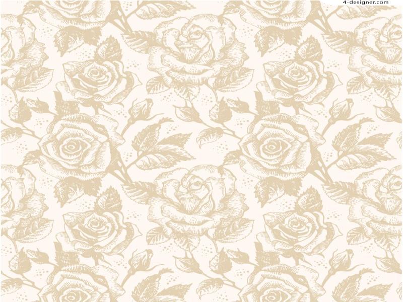 Designer  Elegant Roses Vector Material Photo Backgrounds