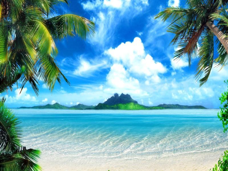 Desktop Tropical Beach Tropical Beach Screen Template Backgrounds