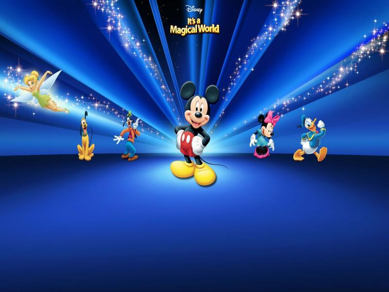 disney mickey mouse backgrounds for powerpoint templates - ppt, Modern powerpoint