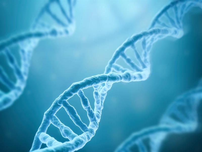 DNA Strands On Blue Backgrounds