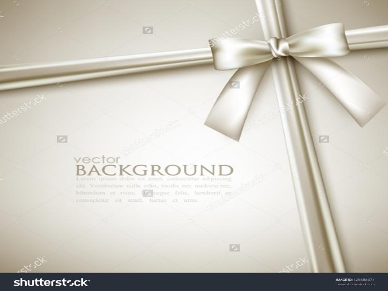 Elegant With White Bow Stock Vector Backgrounds