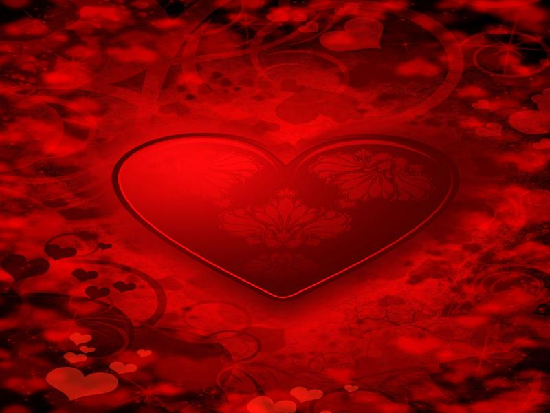 Fancy Hearts Pattern Valentines Picture Backgrounds