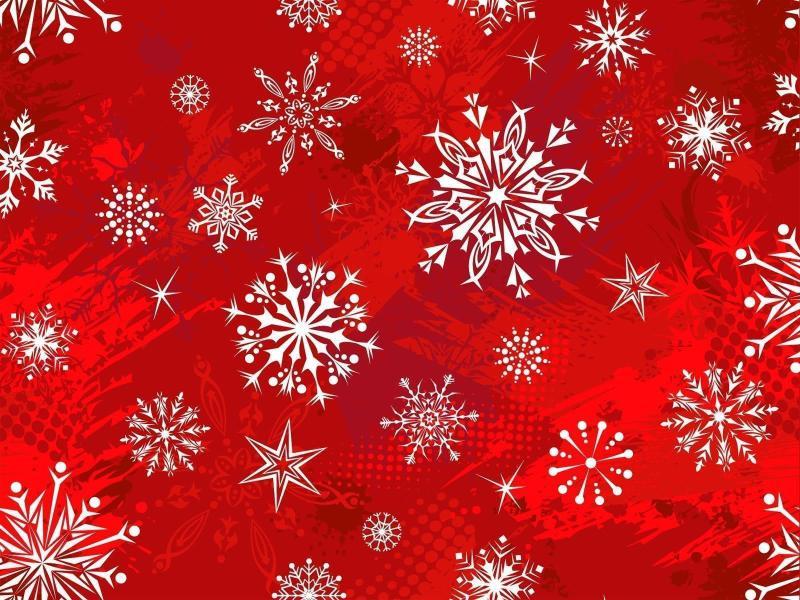 Fantastic Red Christmas Slides Backgrounds