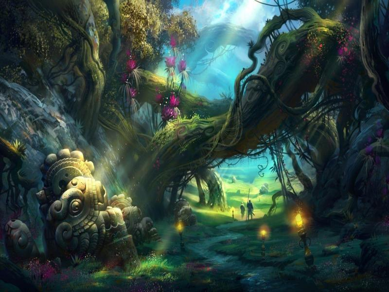fantasy forests cave download backgrounds for powerpoint templates