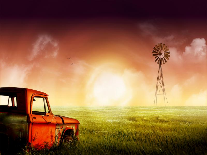 Farm Scrap Vehicle Design Backgrounds