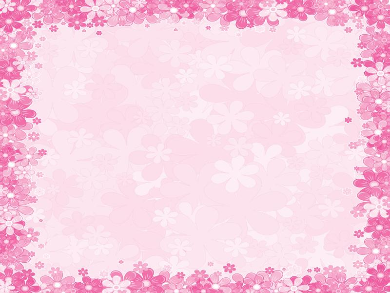 Feminine with pink flowers Backgrounds