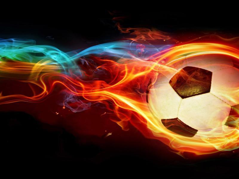 Fire Soccer Ball Backgrounds