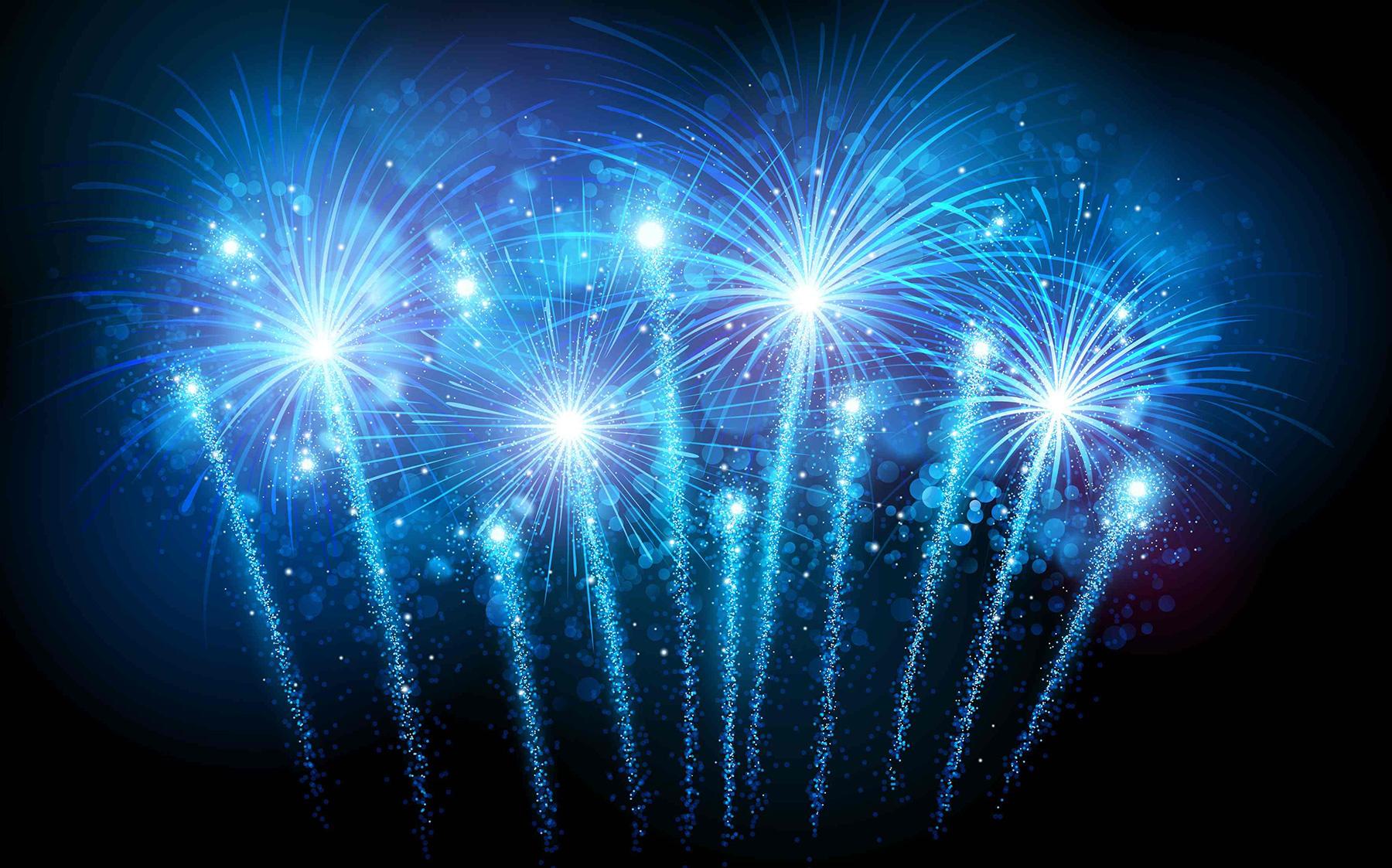Fireworks HD Blue Backgrounds