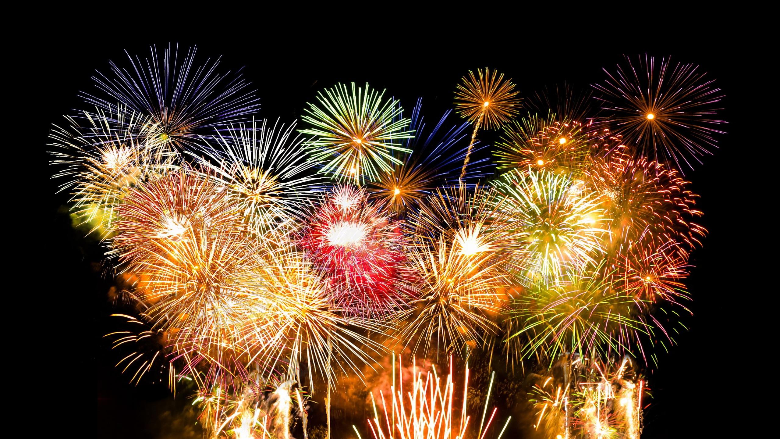 Fireworks on Black Backgrounds