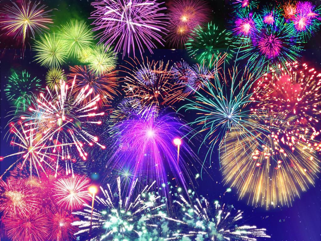 Fireworks Presentation Backgrounds