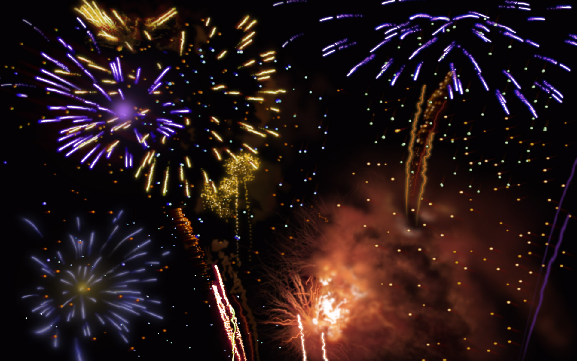 Fireworks Theme Backgrounds