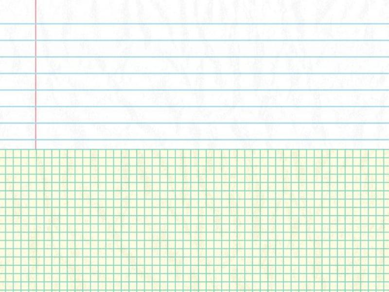 Flat and Square Notebook Paper Backgrounds