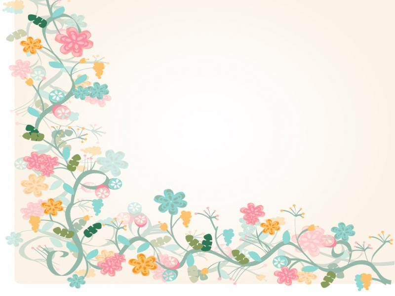 Floral Border Photo PPT Backgrounds