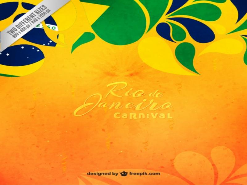 Floral Brazil Carnival Vector | Free Graphic Backgrounds