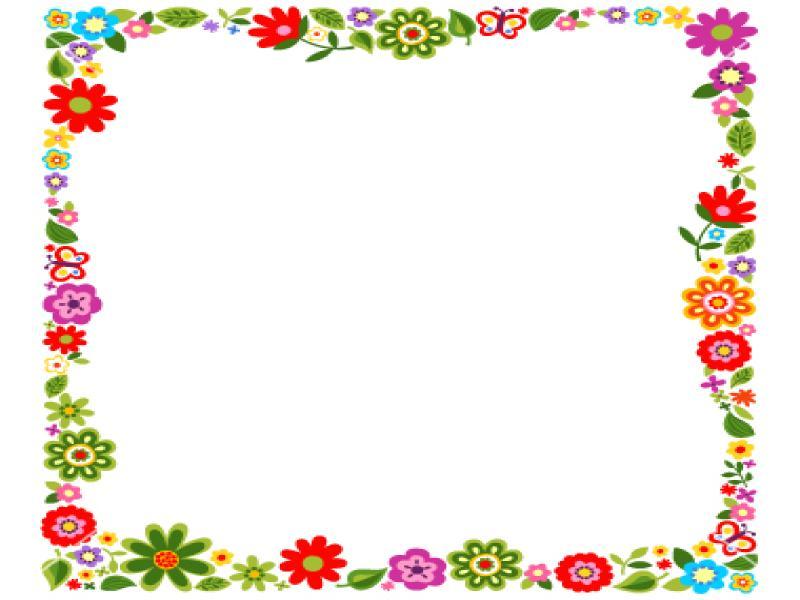 Floral Frame Presentation Backgrounds