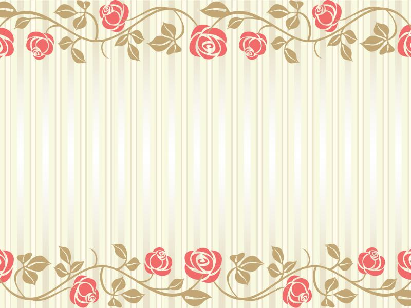 Flowers Wedding Frame Backgrounds for Powerpoint Templates - PPT ...