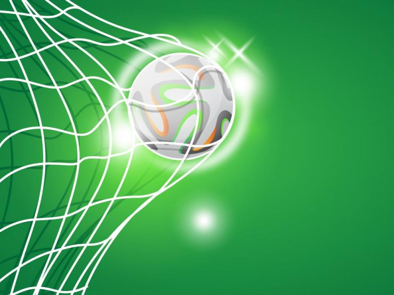 Football Goal  Green Sports  PPT Backgrounds