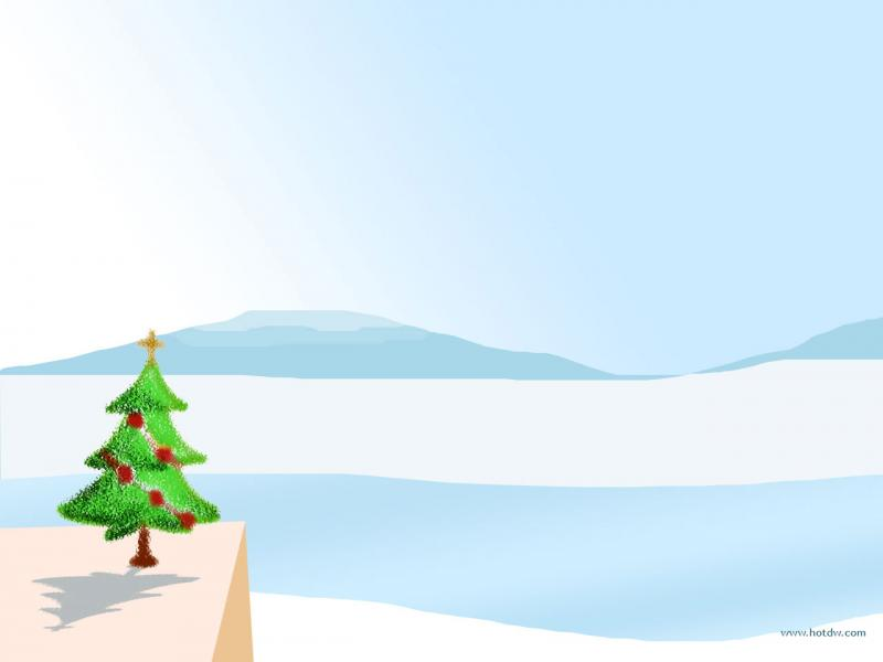 Free Christmas Tree For PowerPoint  Social Slides Backgrounds