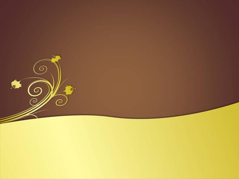 Free Golden Flower Design For PowerPoint  Flower PPT   image Backgrounds