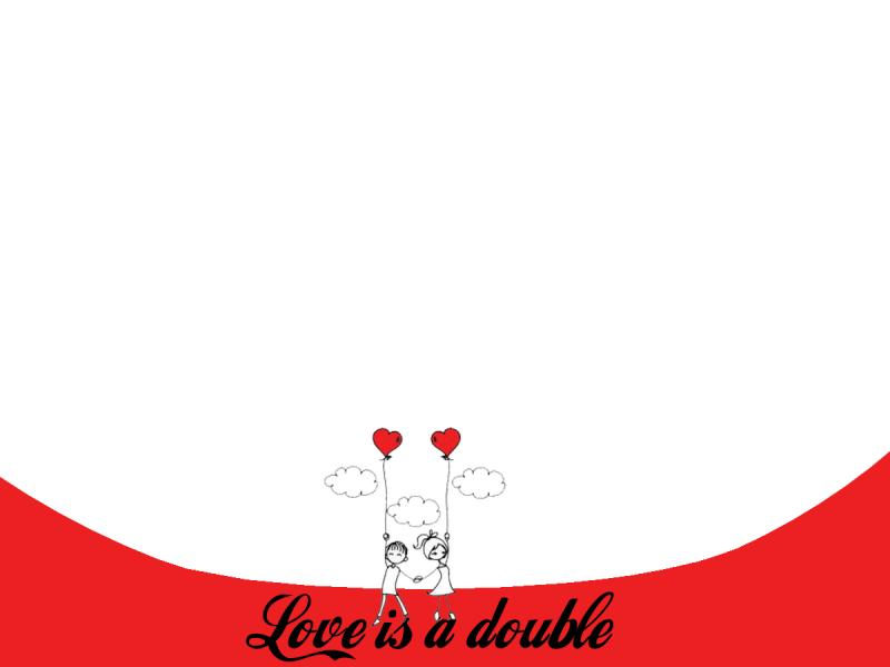 Free Love Is Double For PowerPoint  Love Backgrounds