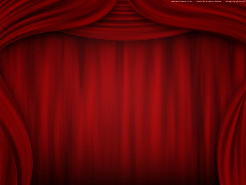 Free Theater Curtain PPT For   Picture Backgrounds