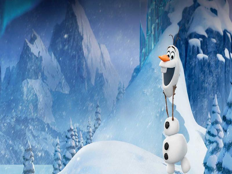 Frozen Wallpaper Backgrounds For Powerpoint Templates