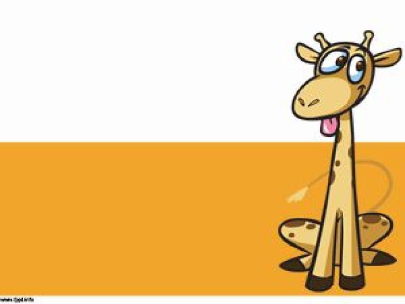 Giraffe Cartoon Template Free Templates Backgrounds For