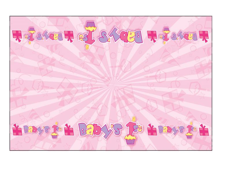 Girl Birthday 1st Birthday Tablecloth Wallpaper Backgrounds