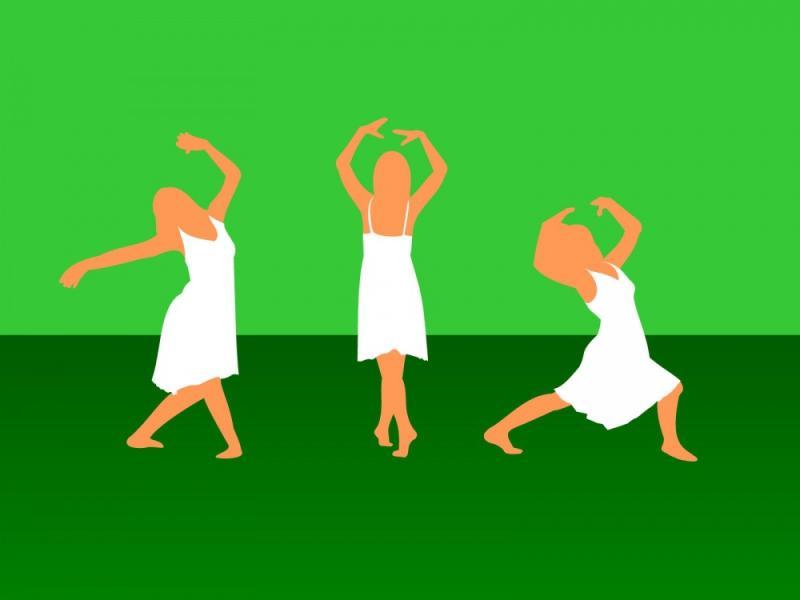 Girl Dance Sport  Educational Sports  PPT   Slides Backgrounds