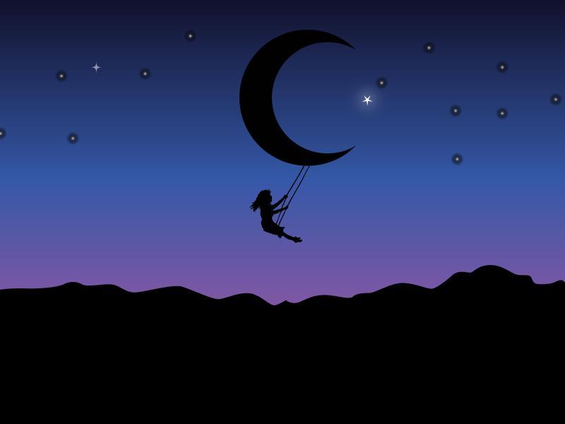 Girl on the Moon Backgrounds