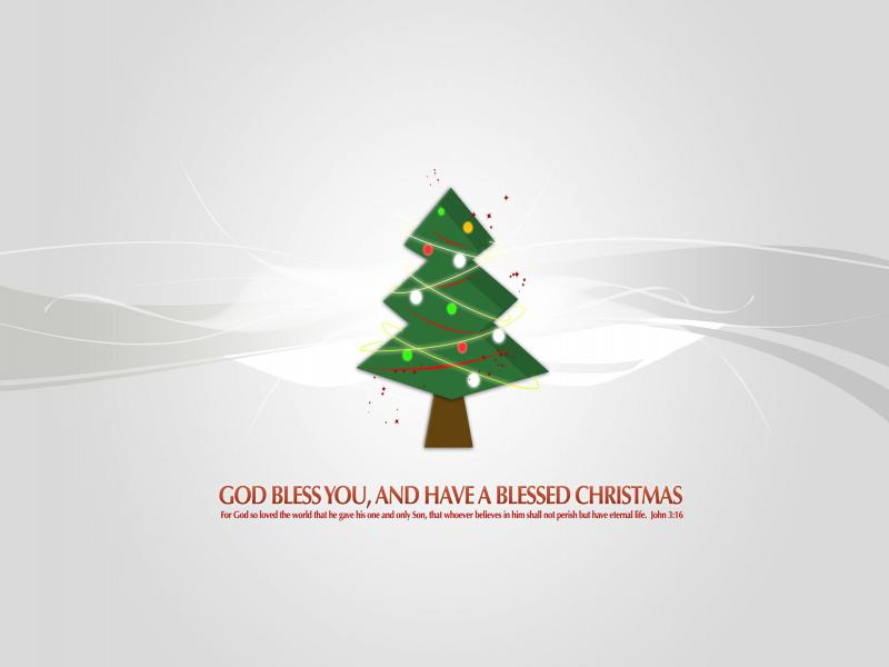 God Bless Christmas Tree Backgrounds