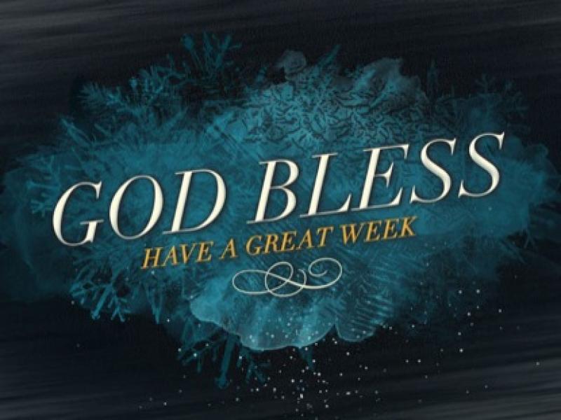 God Bless Have A Great Week Presentation Backgrounds