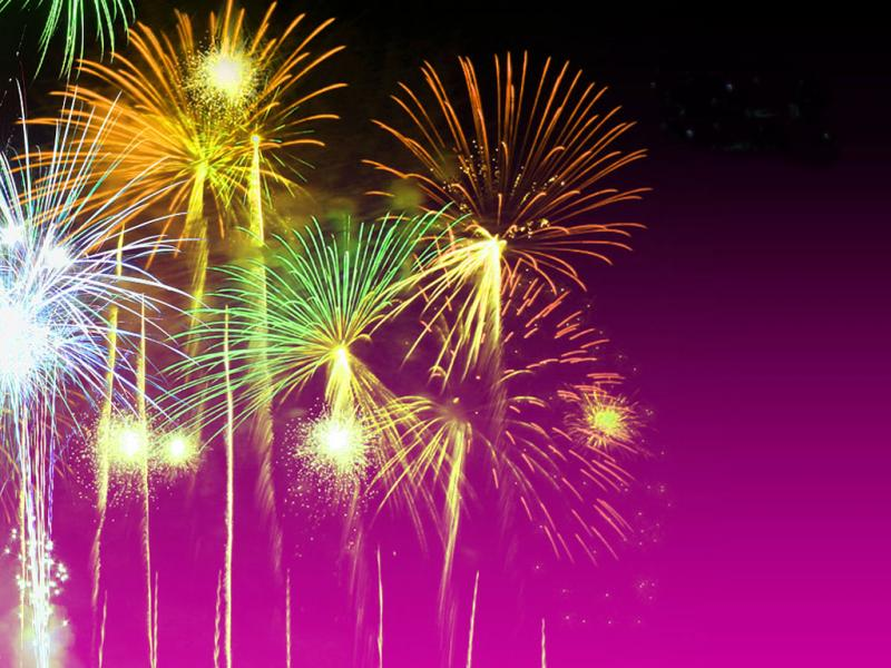 God Free Fireworks Backgrounds