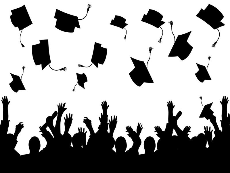 Graduation Vector Silhouette Free Art Presentation Backgrounds For