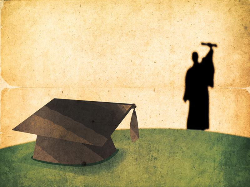 Graduation Vintage Backgrounds For Powerpoint Templates Ppt