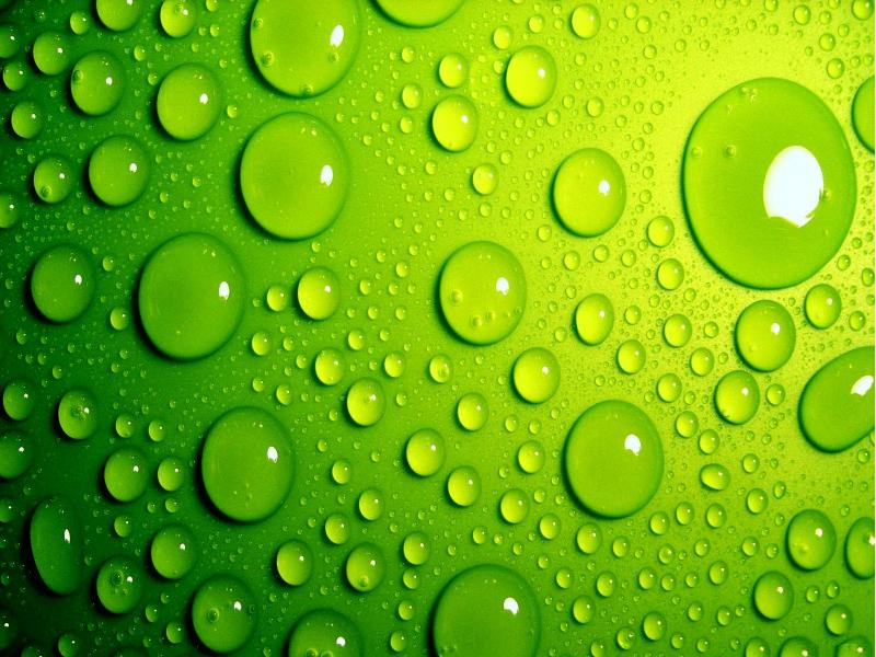 Green Bubbles Backgrounds