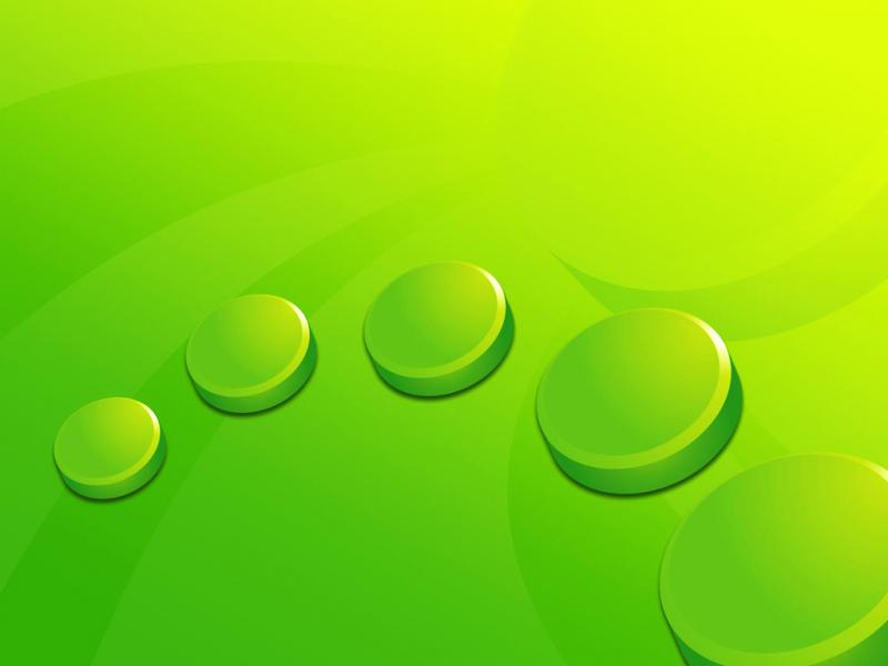 Green Circles Backgrounds