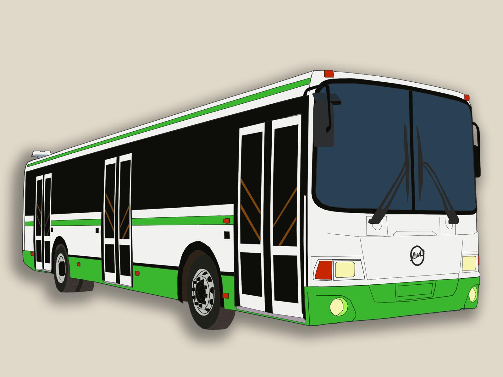 Автобус картинка нарисовать