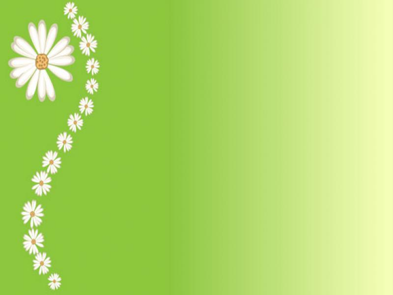 Green Floral Attractive Backgrounds