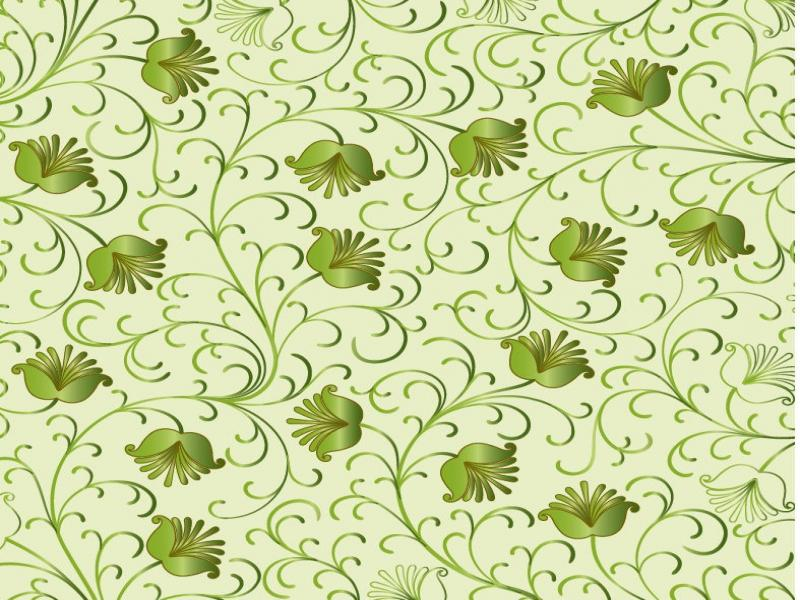 Green Floral Vector  Free Vector Graphics  All Free Web   Wallpaper Backgrounds