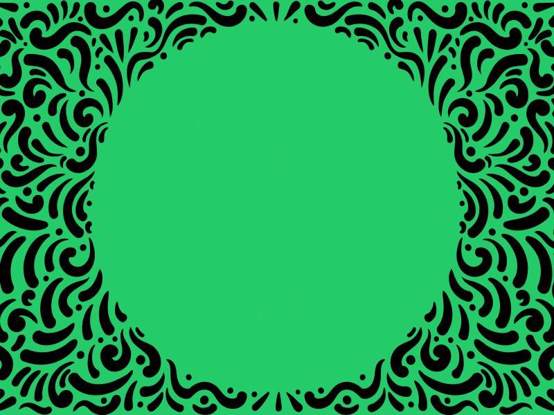 Green Spiral Frame Backgrounds