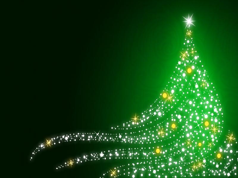 Green Tree Christmas Picture Backgrounds