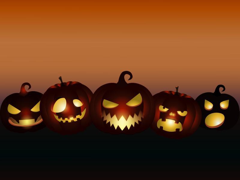 Halloween  Black Cartoon Games Orange  PPT Backgrounds