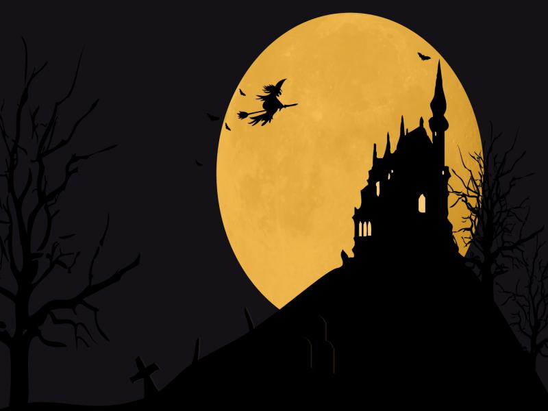 Halloween Frame PPT Backgrounds
