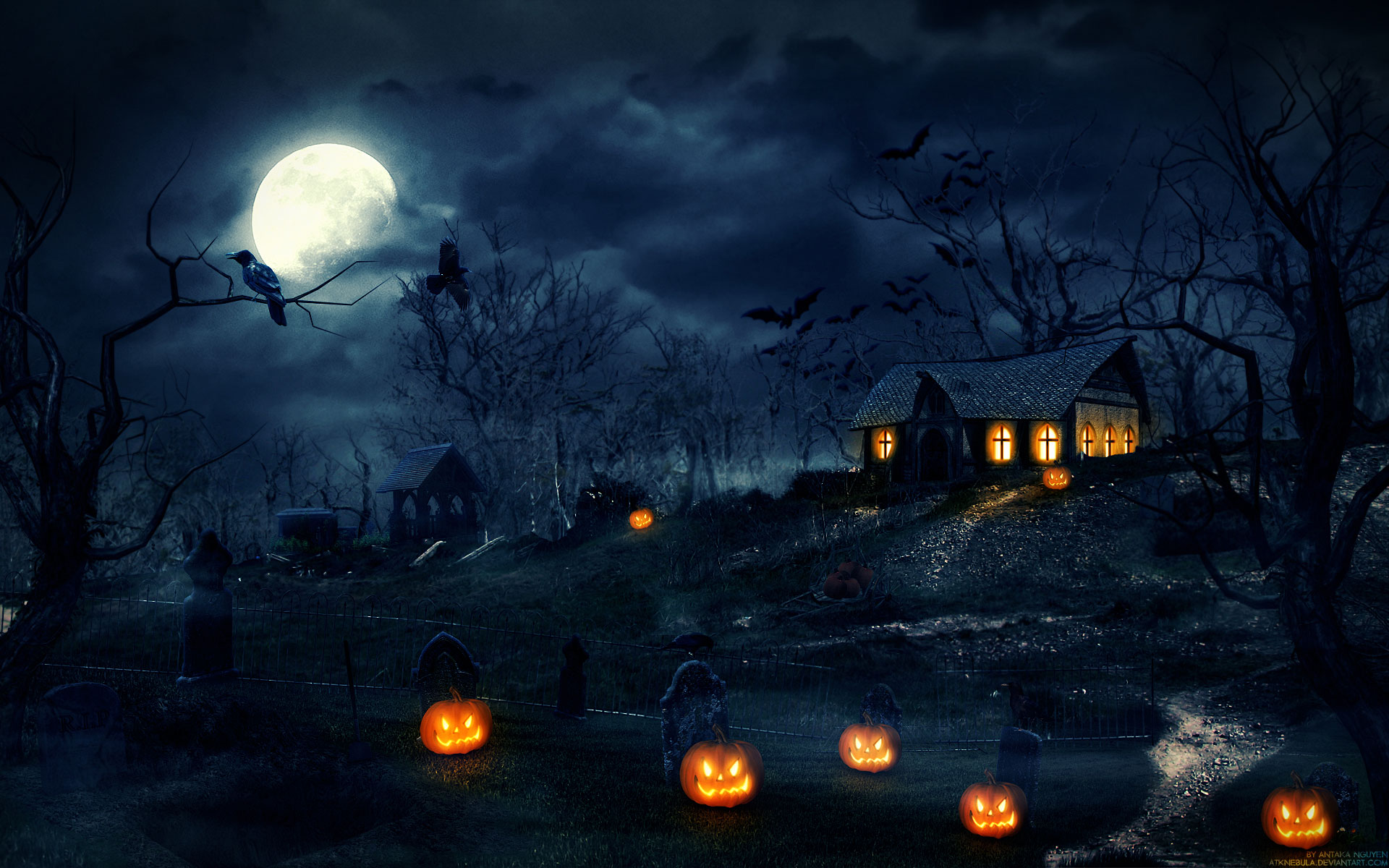Halloween To Use On Social Media Backgrounds