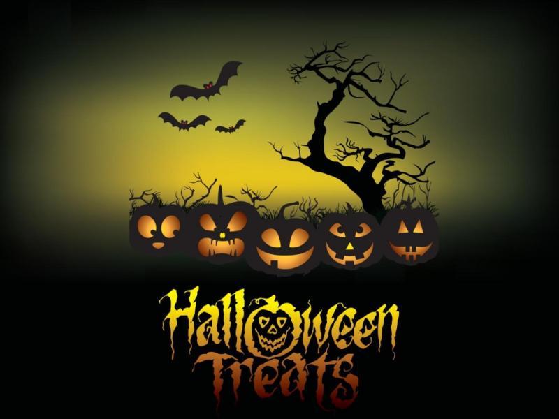 Halloween Treats Poster  3D Games  PPT Design Backgrounds